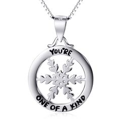 Genuine 925 Sterling Silver Snowflake Necklace Fashion Jewelry Necklaces & Pendants Valentine's Gifts For Women Fashion Jewelry Necklaces, Fashion Necklace, Sterling Silver Jewelry, Silver Earrings, Silver Rings With Stones, Engraved Necklace, Jewelry Design, Pendant Necklace, Israel