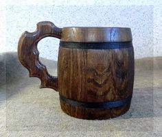 Wooden Beer Mug 0.7 l 23oz natural от UkrMadeShop на Etsy