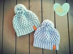 Gratis Haakpatroon van Hip & Haak Puff stitch beanie - ook leuk in donkerblauw en mosgroen!