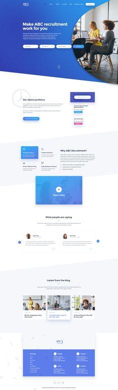 Recruitment agency design concept   4   full design