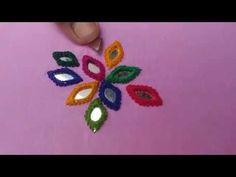 Hand Embroidery easy stitch how to make Balochi stitch designs - YouTube