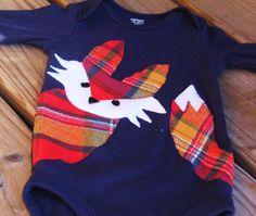 Fox Bodysuit Woodland Bodysuit Fox Shirt Fox by mylittlemookie, $28.00