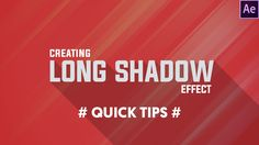 Hey guys in this after effects tutorial we will learn how to create long shadows in after effects with very simple steps i hope you will learne something new...