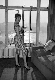 Brigitte Bardot in London, 1956