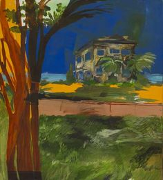 Abandoned House - Karoliina Hellberg: , 2015 Finnish, Oil, inks and acrylic on canvas , 100 x 90 cm. Marcelle Ferron, Bradley Wood, Rose Wylie, Anni Albers, Sculpture, Water Lilies, Abandoned Houses, Finland, Landscape Paintings