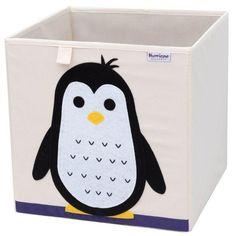 Cube storage box - pinguin Toy Storage Cubes, Kids Storage, Storage Ideas, Kallax Shelving Unit, Cube Organizer, Fabric Animals, Inspiration For Kids, Toy Boxes, Pet Toys