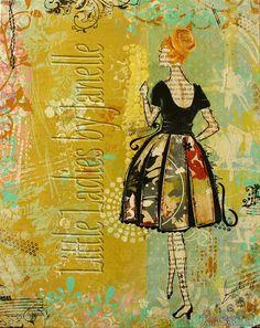 Little Ladies by Janelle Nichol - She Art Workshop 2 - flickr group