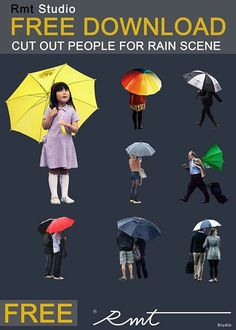 RMT Studio 8 Free Cutout People - Rainy Scene. Check them out!