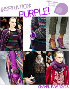 purple accessories & touches at CHANEL Fall 2012