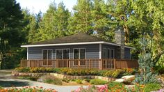 The comforting Beauwater cottage design is the perfect space to relax, only from Beaver Homes & Cottages http:& Cottage Floor Plans, Small House Floor Plans, Small Tiny House, Cabin House Plans, Cottage Plan, Country House Plans, Cottage Ideas, Small Houses, Beaver Homes And Cottages