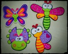 Mariposas goma eva Foam Crafts, Crafts To Make, Crafts For Kids, Arts And Crafts, Paper Crafts, Diy Crafts, Decorate Notebook, Tole Painting, Punch Art