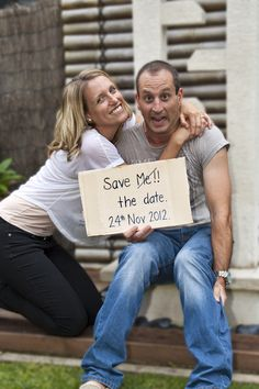 Wow... I would never send these out to people lol Save The Date (Photo Credit: Kristy Weik)