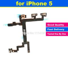 New Original for iPhone 5 5G Power Mute Volume Button Switch Connector On Off Flex Cable Ribbon
