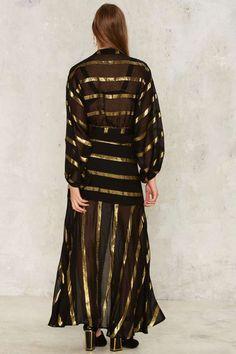 Nasty Gal Stripe Through Me Chiffon Dress - Clothes   Nasty Gal Collection   Fall Bohemia   Maxi Dresses   Dresses