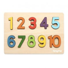 Wooden Numbers Puzzle ~ tinyme.com.au