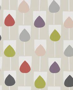 Sula Spice, Rose and Granite wallpaper by Scion