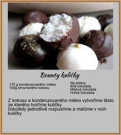 Bounty guľôčky Christmas Sweets, Christmas Baking, Sweet Recipes, Cake Recipes, Christmas Biscuits, Czech Recipes, Xmas Cookies, Food Hacks, Food Inspiration