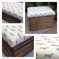 Rustic living storage seat by MaisonTresElegante on Etsy, £65.00 Rustic style storage seats upcycled from genuine used rustic apple crates. Dimensions :- Height 39cms x Depth 40cm x Width 50cm.