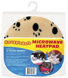 Snuggle Safe Pet Bed Microwave Heating Pad--good way to put non-electrical heat in with animals :)