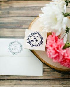 Save the Date Wedding Invitation Envelope Stamp on Etsy, $10.00
