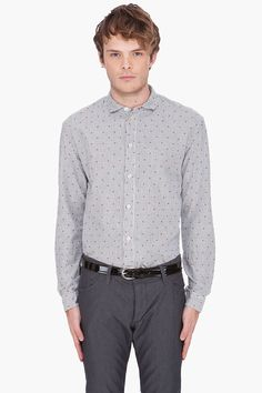 PAUL SMITH JEANS Striped Square Print Shirt