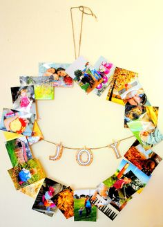 The Rosy Life: {DIY} Photo Collage Wreath