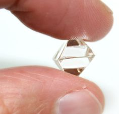A natural rough shaped into a perfect octahedron! My Gems, Rocks And Gems, Uncut Diamond, Rough Diamond, Diamond Color Scale, Herkimer Diamond, Minerals And Gemstones, Jewelry Companies, Colored Diamonds
