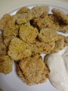 These Oven Fried Pickles are pretty tasty, especially if you're trying to watch your caloric intake. Stop by for the recipe!