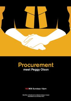 """""""Procurement!  meet Peggy Olson"""".  Illustration by Christina Perry."""