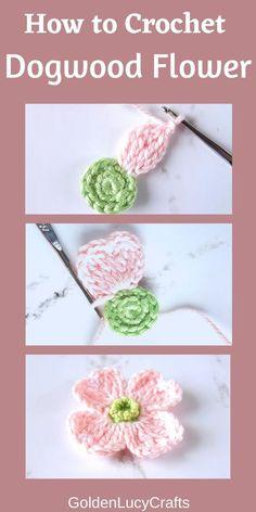 Crochet Simple, Crochet Diy, Crochet Flower Tutorial, Crochet Motifs, Crochet Crafts, Crochet Projects, Crochet Patterns, Crochet Accessories Free Pattern, Crochet Coaster