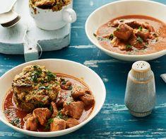 Bierfleisch mit Tassenknödeln Couscous, Risotto, Curry, Organic, Ethnic Recipes, Campaign, Food, Content, Facebook