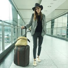 Travel in style amazing @galagonzalez in @ragdoll_la Piqué Pants #imaragdoll