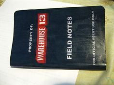 Field notebook. Made by ceemonster. Warehouse 13 Swap.