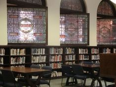 I used to imagine this was my house.  Troy, NY library windows