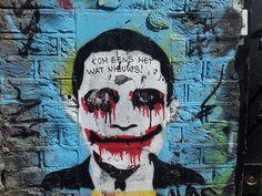 Graffiti - Spuistraat Amsterdam - Opposite Vrankrijk - Artist unknown
