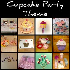 Cupcake party theme: Cupcake for birthday theme party