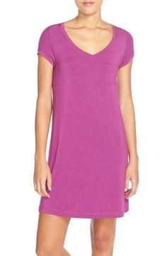 DKNY 'Citi Essentials' V-Neck Sleep Shirt available at #Nordstrom