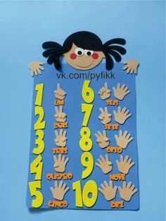 Age Use fingers to Numbers Preschool, Preschool Classroom, Classroom Decor, Kindergarten, Colors For Toddlers, Art For Kids, Crafts For Kids, Spanish Colors, Arabic Alphabet Letters