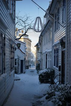Bergen, Norway's Second City, on a snowy winter's day