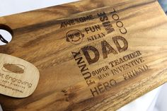 Father Day gift Laser engraved Timber Boards, Delivery Australia wide