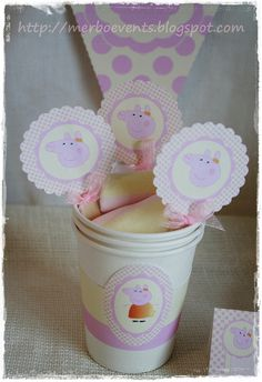 Toppers 2 Merbo Events Kit Peppa Pig by Merbo Events, via Flickr
