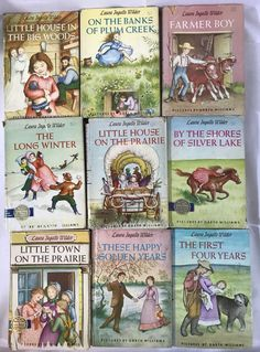 Little House on the Prairie 9 Book set HCDJ HTF Vintage Harper & Row