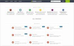 Badge Rewards as a Website UI: KhanAcademy