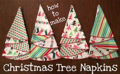 I've made these before but forgot the process. Glad someone posted this. Christmas tree napkins step by step instructions found at http://www.joann.com/christmas-tree-napkin/prod740391/