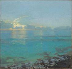"Gillian Pederson-Krag, Seascape, Oil on Canvas, 17"" x 16"", 1999"