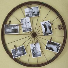 Have you ever wondered about what you can do with old bicycle wheels? Today, we would like to share with you some amazing ideas to transform your old bicycle wheels into something useful and decorative for your home and garden. Bicycle Decor, Old Bicycle, Bicycle Art, Old Bikes, Bicycle Tires, Deco Originale, Ideias Diy, Diy Recycle, Photo Displays