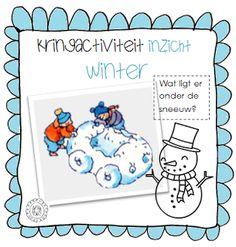 Kleuterjuf in een kleuterklas: Kringactiviteit voelen: wat ligt er onder de sneeuw? | Thema WINTER