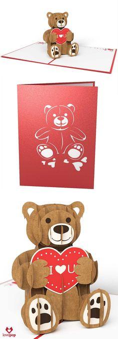 DIY pop-up Valentine\'s card   Pinterest   DIY Valentine, Tutorials ...