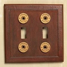 Shotgun Shell Double Light Switch Cover - Father's Day Gifts for Gun Nuts