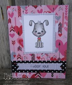 I woof you DIY handmade card